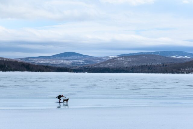 nordic skiing, first Connecticut lake, pittsburg, nh, new hampshire, winter, great north woods